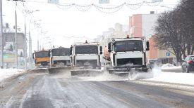 Уборка снега в Гомеле