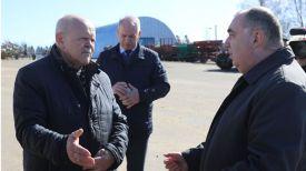 Председатель Комитета государственного контроля Леонид Анфимов и председатель Полоцкого райисполкома Николай Шевчук