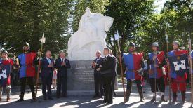 Во время торжественной церемонии открытия памятника Давиду Городенскому
