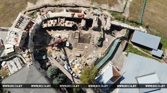 Раскопки в Старом замке (август 2018)