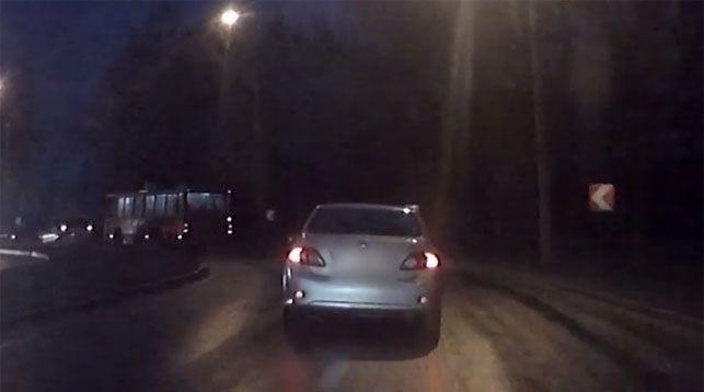 Скриншот из видео ГАИ УВД Гродненского облисполкома
