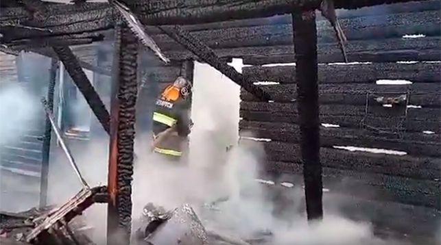 Скриншот из видео Гомельского областного управления МЧС