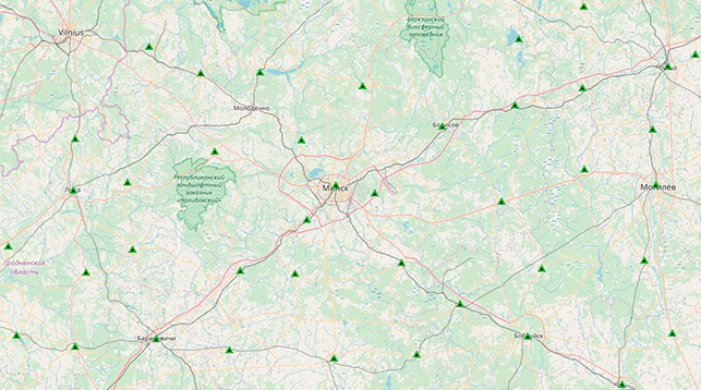 Скриншот с сайта map.nca.by