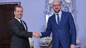 Дмитрий Медведев и Шарль Мишель. Фото ТАСС