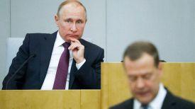 Владимир Путин и Дмитрий Медведев. Фото ТАСС