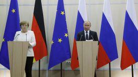Ангела Меркель и Владимир Путин. Фото AP