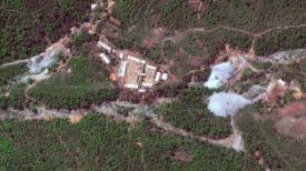 Полигон для ядерных испытаний до униточжения. Фото Twitter.com/DigitalGlobe