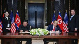 Ким Чен Ын и Дональд Трамп. Фото Ренхап