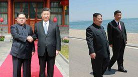 Ким Чен Ын и Си Цзиньпин. Фото Ренхап