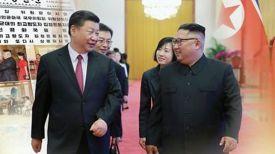 Си Цзиньпин и Ким Чен Ын. Фото Ренхап