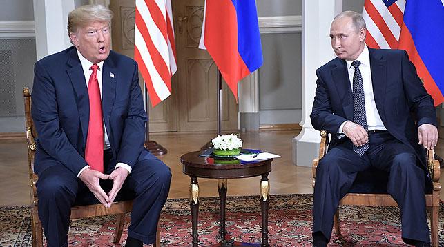Дональд Трамп и Владимир Путин. Фото ТАСС