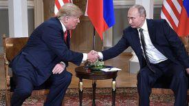 Дональд Трамп и Владимир Путин. Фото пресс-службы президента РФ