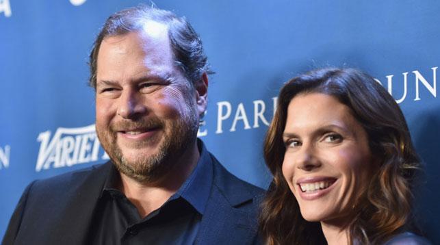 Марк и Линн Бениофф. Фото Getty Images для J/P HRO