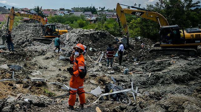 Последствия землетрясения в Индонезии. Фото Синьхуа-БЕЛТА