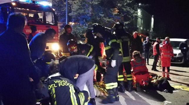 На месте происшествия. Фото из Twitter-аккаунта Vigili del Fuoco