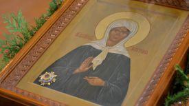 Икона святой блаженной Матроны Московской с частицей мощей
