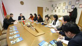 Во время встречи. Фото Министерства информации Беларуси