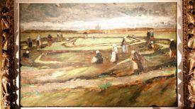 "Картина ""Женщины в дюнах за починкой сетей"". Фото EPA"