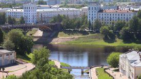 Вид на Кировский мост в Витебске и реку Западная Двина. Фото из архива