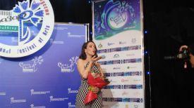 Наталия Орейро во время пресс-конференции