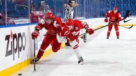 Во время матча Беларусь - Дания. Фото IIHF