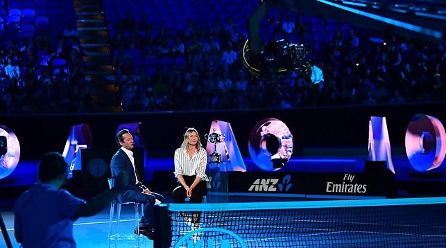 Мария Шарапова во время жеребьевки Australian Open 2018. Фото из социальных сетей