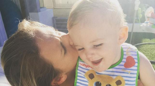 Виктория Азаренко с сыном Лео. Фото из соцсетей