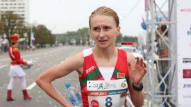 Людмила Ляхович (Коваленко) во время Минского полумарафона-2017