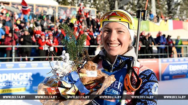 Дарья Домрачева на этапе Кубка мира в Антхольце