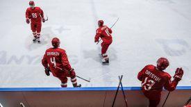 Тренировка российских хоккеистов. Фото ТАСС