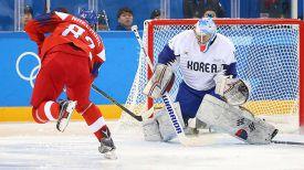 Во время матча Чехия - Республика Корея. Фото IIHF