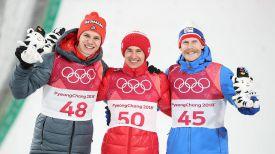 Андреас Веллингер, Камиль Стох и Роберт Юханссон. Фото FIS