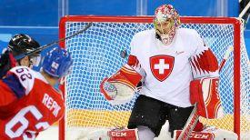 Во время матча Чехия - Швейцария. Фото IIHF