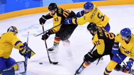 Во время матча Швеция - Германия. Фото Синьхуа - БЕЛТА