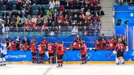 Во время матча Канада - Финляндия. Фото из социльных сетей