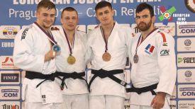 Егор Воропаев (второй слева). Фото Европейского союза дзюдо