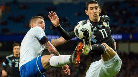 Во время матча Аргентина - Италия