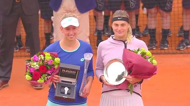 Элизе Мертенс и Арина Соболенко. Фото Ubitennis