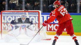 Во время матча Россия - Франция. Фото IIHF