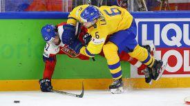Во время матча Швеция - Чехия. Фото IIHF