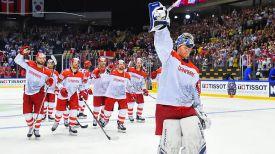 Команда Дании. Фото IIHF