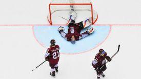 Команда Латвии. Фото IIHF