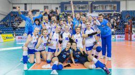 Волейболистки сборной Беларуси после победы над словачками. Фото CEV