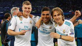 "Тони Кроос, Каземиро и Лука Модрич. Фото ""Реала"""