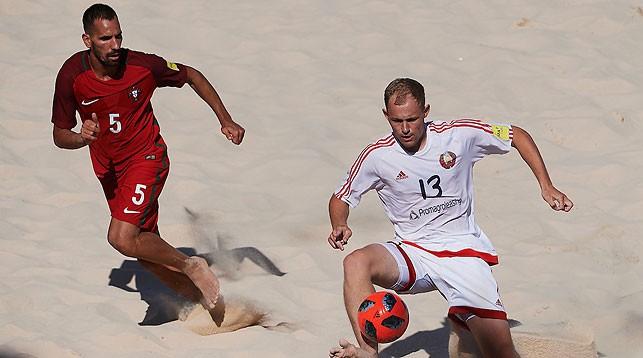 Во время матча. Фото Beach Soccer