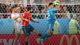 Во время матча Испания - Марокко. Фото ТАСС