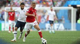 Во время матча Дания - Франция. Фото ФИФА