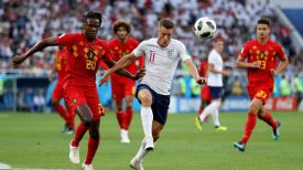 Во время матча Бельгия - Англия. Фото Getty Images