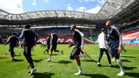 Тренировка сборной Франции на стадионе в Казани. Фото из соцсетей