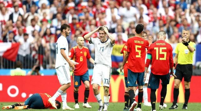 Во время матча Россия - Испания. Фото Getty Images